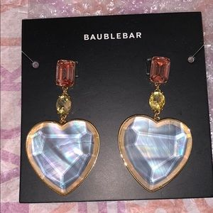NWT baublebar heart gem earrings